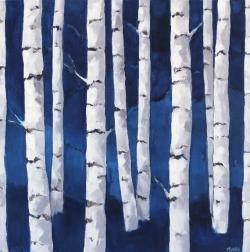 Beth Munro: Birch Study Indigo