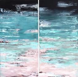 Ivana Milosevic: Ocean California (Diptych)
