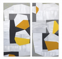Heny Steinberg: Low Yellow Moon (diptych)