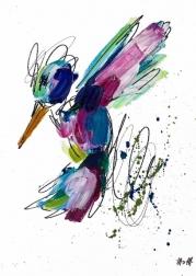 Ash Almonte: Green Splatter Hummingbird