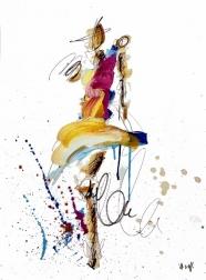 Ash Almonte: Pink Orange Blue Yellow Figure