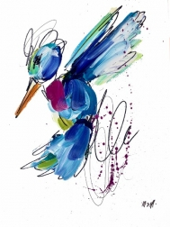 Ash Almonte: Pink Bow Tie Hummingbird