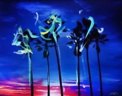 Pete Kasprzak: Venice California Blue Palms 2