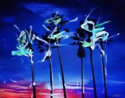Pete Kasprzak: Venice California Blue Palms 1