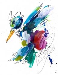 Ash Almonte: Purple, Red, and Blue Splatter Hummingbird