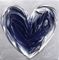 Cynthia Coulombe-Bégin: Blue Heart On Silver No.1