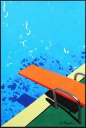 Michael Giliberti: Pool With Orange Diving Board II