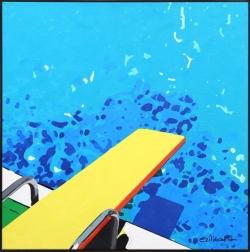 Michael Giliberti: Pool With Yellow Diving Board II