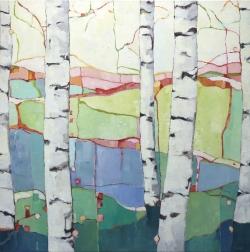 Beth Munro: Spring Birches