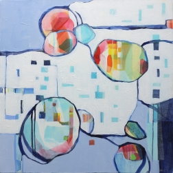Beth Munro: Bubbles And Stripes in Blue