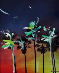 Pete Kasprzak: Palms at Twilight