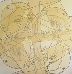 Hilary Bond: Untitled (Gold Kate 4x)