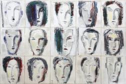 Bernhard Zimmer: Faces 25 (Kopfbild 25)