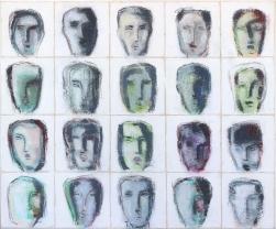 Bernhard Zimmer: Faces 43 (Kopfbild 43)