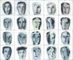 Bernhard Zimmer: Faces 46 (Kopfbild 46)