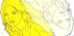 Hilary Bond: Yellow, Unbleached Titanium