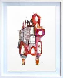 Maria C Bernhardsson: Red Building In New York