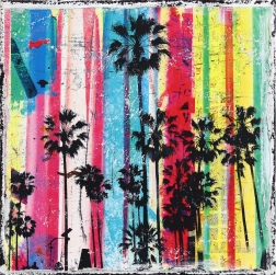 Marion Duschletta: Rainbow Palms 3