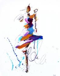 Ash Almonte: Purple Orange and White Figure
