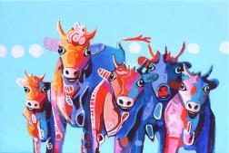 Fredi Gertsch: Red Gang Girls Feeling Blue
