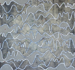 Petra Rös-Nickel: Waves Blue Grey
