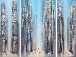 Ekaterina Ermilkina: City Dreaming (Triptych)