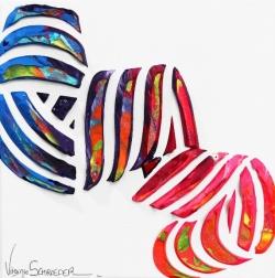 Virginie Schroeder: Abstraction Spiral Of Love