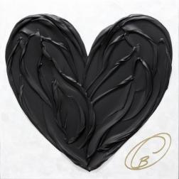 Cynthia Coulombe-Bégin: Black Heart On White No.1