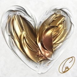 Cynthia Coulombe-Bégin: Rose And Gold Heart No.2