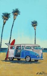 Kathleen Keifer: Three Palms VW Van