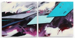 Paul Kirley: Abstract Landscape #135 (diptych)