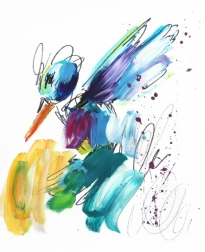 Ash Almonte: Purple Magenta Turquoise Hummer