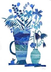 Maria C Bernhardsson: Blue Flowers