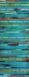 Petra Rös-Nickel: Stripes Turquoise II