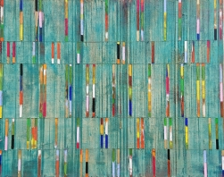 Petra Rös-Nickel: Stripes Turquoise