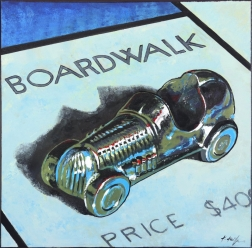 Kathleen Keifer: Boardwalk Blue Racecar